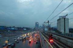 Grauer Smog liegt über Addis Abeba