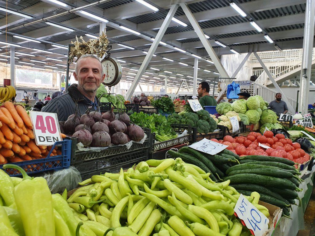 Markt Basar in der Altstadt Sehenswürdigkeiten in Skopje Nordmazedonien Reise Urlaub