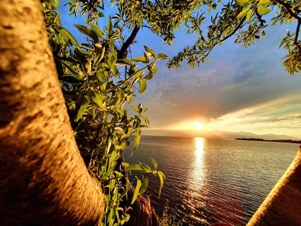 Sehenswürdigkeiten in Nordmazedonien Ohrid-See Sonnenuntergang Reise Nordmazedonien Reise Balkan
